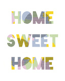 Hogar dulce hogar Lámina giclée por Clara Wells