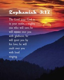 Zephaniah 3:17 The Lord Your God (Sunset) Plakater af  Inspire Me