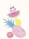 Funky Pineapple Giclée-vedos tekijänä Clara Wells