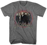 Def Leppard- Band Button Camisetas