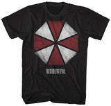 Resident Evil- Distressed Umbrella Logo T-skjorter