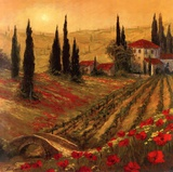 Poppies Of Toscano I Posters by Art Fronckowiak
