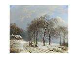 Winter Landscape, 1835-38 Giclee-trykk av Barend Cornelis Koekkoek