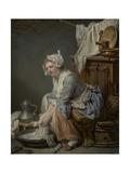 The Laundress, 1761 Giclee Print by Jean-Baptiste Greuze