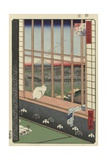 Temple Procession to Torinomachi in the Rice Fields of Asakusa, 1857 Giclee Print by Utagawa Hiroshige