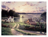 Island Sunset Kunstdrucke von Randy Van Beek