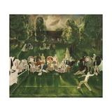 Tennis Tournament, 1920 Giclee-trykk av George Bellows