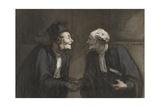 Two Lawyers Shake Hands, C. 1840-60 Reproduction procédé giclée par Honore Daumier