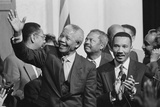 President of South Africa, Nelson Mandela with Members of the Congressional Black Caucus Photo