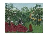 Tropical Forest with Monkeys, 1910 Giclée-tryk af Henri Rousseau
