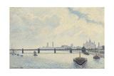 Charing Cross Bridge, London, 1890 Reproduction procédé giclée par Camille Pissarro