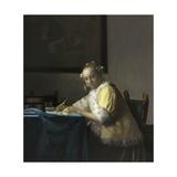 A Lady Writing, C. 1665 Lámina por Johannes Vermeer