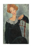 Woman with Red Hair, 1917 Giclée-tryk af Amedeo Modigliani