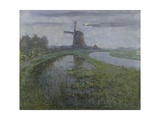 Oostzijdse Mill Along the River Gein by Moonlight, C. 1903 Giclee Print by Piet Mondriaan