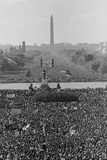 Marchers on the National Mall During the Million Man March, in View Towards the Washington Monument Photo