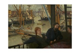 Wapping, 1860-64 Giclée-tryk af James McNeill Whistler