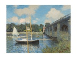 The Bridge at Argenteuil, 1874 Lámina giclée por Claude Monet
