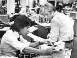 All the President's Men, Dustin Hoffman, Robert Redford, 1976 Fotografia