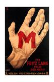 M, (AKA M - Eine Stadt Sucht Einen Morder), Poster, 1931 Gicléedruk