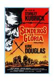 Paths of Glory, (AKA Senderos De Gloria), Kirk Douglas, 1957 Impressão giclée