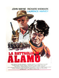 The Alamo, (AKA La Battaglia Di Alamo), from Left: Richard Widmark, John Wayne, 1960 Impressão giclée