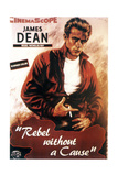 Vildt blod, James Dean, 1955 Giclée-tryk