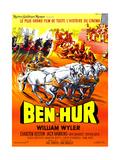 Ben-Hur, Charlton Heston, (French Poster Art), 1959 Impressão giclée