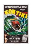 Kon-Tiki, Norwegian Poster, 1950 Giclee-trykk
