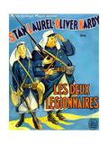 Beau Hunks, (aka Les Deux Legionnaires), French Poster Art, 1931 Giclée-tryk