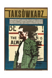 Taxi Driver, Robert De Niro on Polish Poster Art, 1976 Giclée-tryk