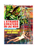 Creature from the Black Lagoon, (aka L'Etrange Creature Du Lac Noir), French Poster Art, 1954 Giclee-trykk
