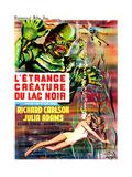 Creature from the Black Lagoon, (aka L'Etrange Creature Du Lac Noir), French Poster Art, 1954 Impressão giclée