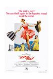 The Sound of Music, Center: Julie Andrews on 1973 Poster Art, 1965 Giclée-tryk