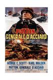 Patton ,(AKA Patton Cenerale D'Acciaio), Italian Poster Art, George C. Scott, 1970 Giclee-trykk