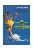 Monty Python and the Holy Grail, (Los Caballeros De La Mesa Cuadrada Y Sus Locos Seguidores), 1975 Reproduction procédé giclée
