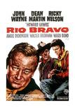 Rio Bravo, John Wayne, Dean Martin, Ricky Nelson, 1959 Gicléedruk