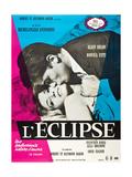 Eclipse, (aka L'Eclisse), Alain Delon, Monica Vitti on French Poster Art, 1962 Reproduction procédé giclée
