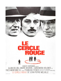 The Red Circle, (AKA Le Cercle Rouge), from Left: Andre Bourvil, Alain Delon, Yves Montand, 1970 Impressão giclée