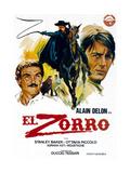 Zorro, (AKA El Zorro), Right: Alain Delon on Spanish Poster Art, 1975. Giclee Print