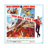 You Only Live Twice, Sean Connery, 1967 Giclée-tryk