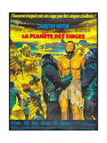 Planet of the Apes, (French Poster Art), Charlton Heston, 1968 Impressão giclée