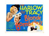 Bombshell, (AKA Blonde Bombshell), from Left: Jean Harlow, Lee Tracy, 1933 Giclee Print