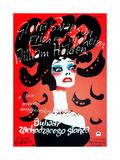 Sunset Boulevard, (AKA Bulwar Zachodzacego Slonca), Polish Poster Art, Gloria Swanson, 1950 Impressão giclée