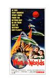The War of the Worlds, Bottom from Left: Gene Barry, Ann Robinson on 1965 Poster Art, 1953 Giclée-Druck
