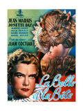 Beauty and the Beast, (AKA La Belle Et La Bete), Jean Marais, Josette Day, 1946 Gicléedruk