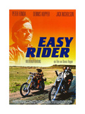 Easy Rider, Peter Fonda on German Poster Art, 1969 Giclee Print