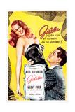 Gilda, Argentine Poster Art, Rita Hayworth, Glenn Ford, 1946 Giclée-tryk