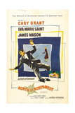 North by Northwest, Cary Grant, Eva Marie Saint on Poster Art, 1959 Giclee Print