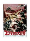 Destroy All Monsters, Godzilla on Japanese Poster Art, 1968 Giclee-trykk