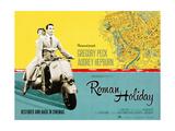 Roman Holiday, British Re-Release Poster Art, 1953 Impressão giclée